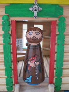 St Francis of Assisi Wooden Peg Doll  Made to by ThisLittlePeggy, $25.00