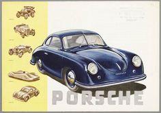 Sketchbook historic cars Pictures: The legend - PORSCHE Typ 356 Porsche Boxster, Porsche 356, Vintage Porsche, Vintage Cars, Porsche Replica, Vintage Metal Signs, Porsche Cars, Bike Art, Car Pictures