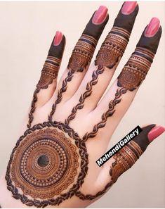 Pakistani Henna Designs, Kashee's Mehndi Designs, Round Mehndi Design, Finger Henna Designs, Latest Bridal Mehndi Designs, Full Hand Mehndi Designs, Mehndi Design Pictures, Mehndi Designs For Beginners, Wedding Mehndi Designs