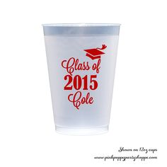 Graduation Personalized Plastic Party Cups - Set of 50 -   - Pink Poppy Party Shoppe - 1