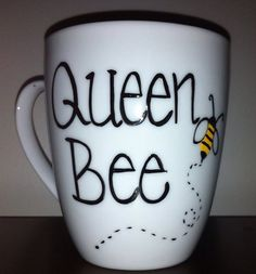 Hey, I found this really awesome Etsy listing at https://www.etsy.com/listing/122498304/queen-bee-coffee-mug