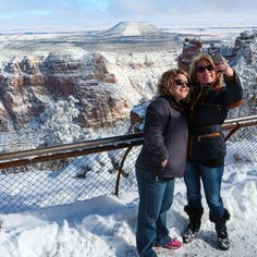 There's nothing like a winter selfie on the Grand Canyon South Rim!