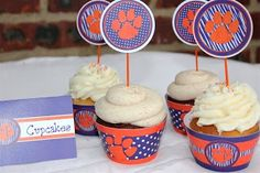 Clemson Girl: Smile and have a Clemson cupcake!