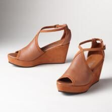 These stylish yet casual nubuck/leather sandals are perfect for any seasonal ensemble.
