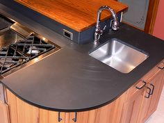 looks so easy to clean!  Kitchen Island Prep Sink by rblachut, via Flickr