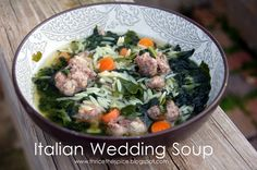 Italian Wedding Soup: Thrice The Spice