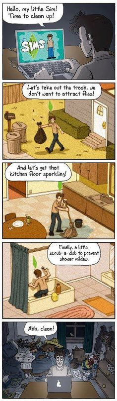 I remember playing the original Sims game. It was so much work to keep them clean & happy! Still, it was a fun game :-)