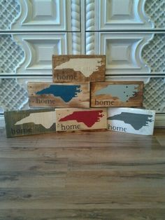 NC is our home! Upcycled from reclaimed wood. Love!!! Check them out at www.thedoodlingbug.com