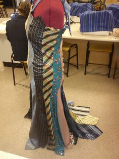 Dress made out of mens ties - more pics if you follow the link