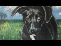 Chanel - Puppy -  Timelapse painting oiloncanvas