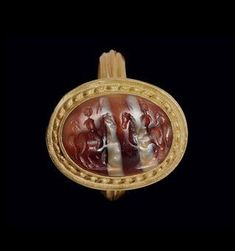 A Roman banded agate ringstone. Circa 2nd century A.D.