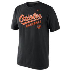 Men's Baltimore Orioles Nike Black Home Practice T-Shirt