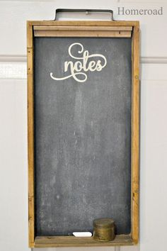 repurposed vintage backgammon into a chalkboard