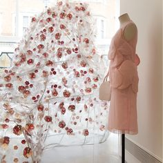 Beautiful window display at the Simone Rocha store, Mayfair