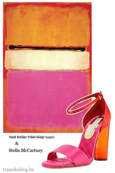 Painting by Mark Rothko, shoes by Stella McCartney