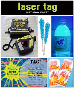 {Party Idea} For the Love of Laser Tag 9th Birthday Parties, Girl Birthday, Birthday Ideas, 13th Birthday, Laser Tag Birthday, Laser Tag Party, Spy Party, Party Time, Kids Party Themes