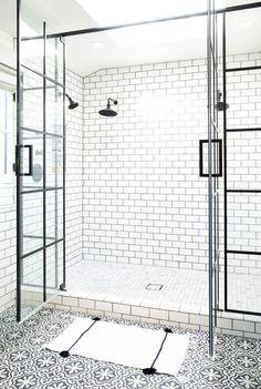 Steel-paned shower d