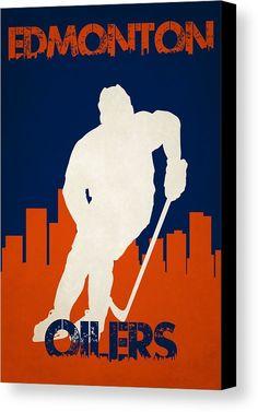 Oilers Canvas Print featuring the photograph Edmonton Oilers by Joe Hamilton