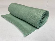 """14"""" Teal Burlap 10 Yard Roll Sewn Edges - Made In USA Burlap Ribbon, Decorative Items, Teal, Yard, Sewing, Patio, Dressmaking, Decorative Objects, Couture"""