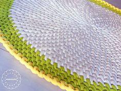 crochet carpet -  My Notting Hill crochet rug. A new crochet pattern I am working on...T Shirt yarn rug
