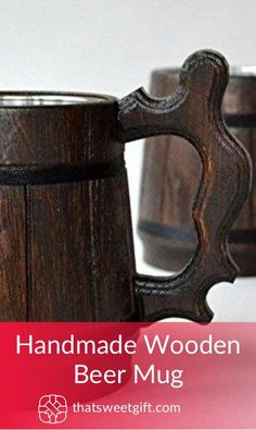 Handmade Wooden Beer Mug Bacon Gifts, Cool Gifts, Awesome Gifts, Wooden Beer Mug, Handmade Wooden, Fathers Day Gifts, Gifts For Him, Holiday Gifts, Gift Ideas