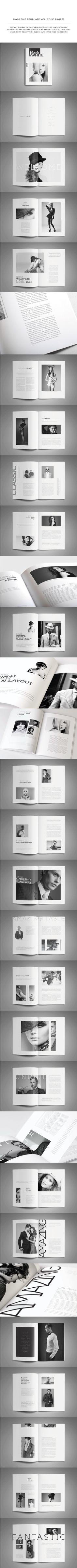 Black & White Magz by Jumadi M. Nur, via Behance