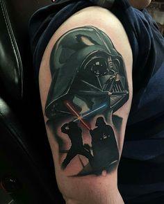 Darth Vader /Star Wars Tattoo by J J Jackson sponsored by @killerink