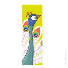 Tableau de paon pour chambre bébé. Création originale par Serie-Golo.