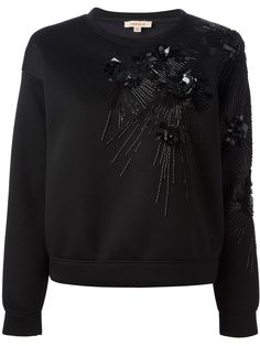 P.A.R.O.S.H. floral embroidery sweatshirt