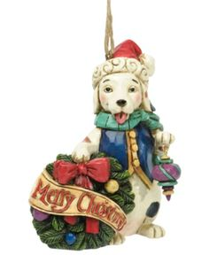 Jim Shore Christmas Ornament, Merry Christmas Dog