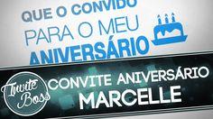 Convite Animado Aniversário (Texto Animado) - Marcelle