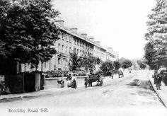 An Old Photo of Brockley Road, Upper Brockley, South East London England. In 1917 the road was divided into 3 names, Upper Brockley, Brockley Cross and Brockley Rise! Vintage London, Old London, East London, History Of England, London History, London England, Old Photos, The Past, Park