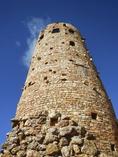 Grand Canyon Watch Tower - Road Trip Planner for Visiting the Grand Canyon, Bedrock, Wupatki, and Sunset Crater in one day! Flagstaff, Sedona Arizona Area http://www.theconstantrambler.com/road-trip-planner-visiting-grand-canyon-south-rim/