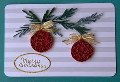 Ornaments Paper Quilling Cards, Paper Quilling Patterns, Origami And Quilling, 3d Quilling, Quilling Christmas, Christmas Tree Crafts, Christmas Ornaments, Quilling Techniques, Paper Crafts