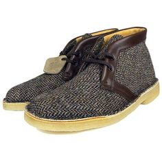 "FOOTWEAR | Clarks Originals 60th Anniversary ""Harris Tweed - 1950's"" Edition DesertBoot - WILLIAMYAN.COM - Blog - WILLIAMYAN.COM found on Polyvore"