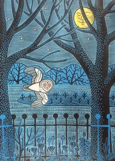 'In The Park' By Printmaker Gerard Hobson. Blank Art Cards By Green Pebble. www.greenpebble.co.uk