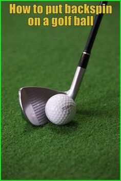 Everyone adores backspin and needs to hit it, however barely anybody knows how to put backspin on a golf ball. Basic Chipping Types in Golfing. golf chipping tips Golf 5, Play Golf, Disc Golf, Sport Golf, Golf Chipping Tips, Golf Ball Crafts, Golf Putting Tips, Golf Instruction, Golf Tips For Beginners