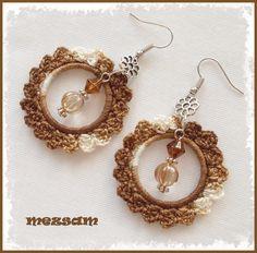 Hair Jewelry, Boho Jewelry, Beaded Jewelry, Jewelery, Handmade Jewelry, Bead Earrings, Crochet Earrings, Crochet Panda, Bead Crochet