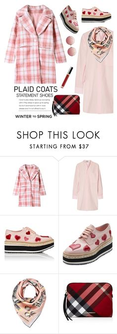 """Pattern Play"" by barngirl ❤ liked on Polyvore featuring Acne Studios, Prada, Longchamp, Burberry and Linda Farrow"