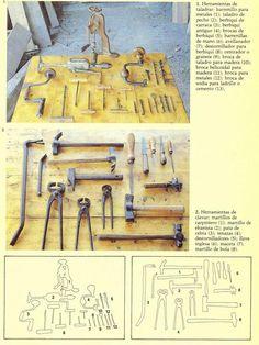 Dibujos y fotos de herramientas de carpintero Miniatures, Furniture, Carpenter Tools, Drill Bit, Gadgets, Leather, Wood, Illustrations, Minis