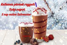 péntek reggel - Megaport Media Share Pictures, Animated Gifs, Holiday Drinks, Coffee Beans, Panna Cotta, Berries, Merry Christmas, Pudding, Chocolate
