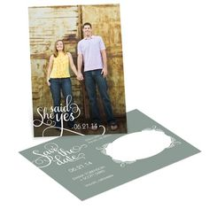 Save the Date Photo Postcards -- Say it Sweetly