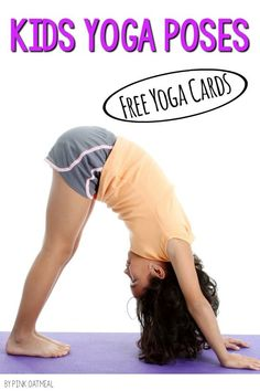 Kids yoga cards for FREE!  I love how cute the kids yoga poses are and how there are real kids in the poses!