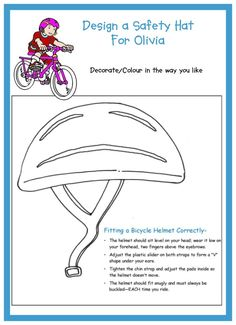 Design a Safety Hat for Olivia designed by Tigi Higgins please give full credit if using other than in your own unit.