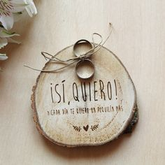 Porta alianzas para boda - sí quiero| How Nice Project
