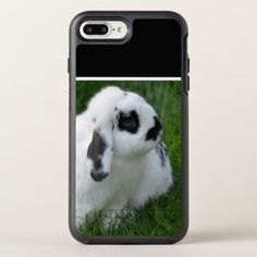 Cute Rabbit on Grass OtterBox Symmetry iPhone 8 Plus/7 Plus Case - photo gifts cyo photos personalize