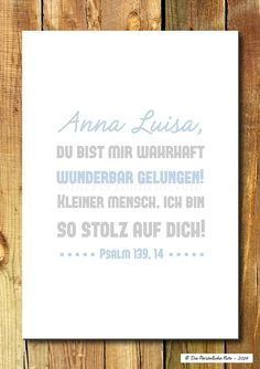 Druck/Wandbild/Print: Bunter Bibelvers zur Taufe
