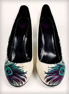 Walmart shoes + Peacock feather + Mod Podge = cool shoes!