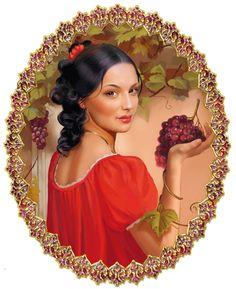 Tartışma: kadın imajı Vintage Roses, Retro Vintage, Gifs, Fantasy Women, Adult Coloring Pages, Pretty Woman, Animated Gif, Red Color, Photo Art