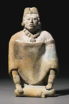Maya seated female figure, Jaina Late Classic, ca. A.D. 550-950 - Sothebys